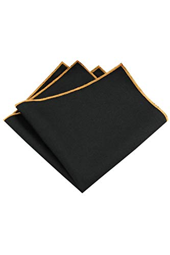 Men's Viscose Pocket Square Solid Color Handkerchiefs 24x24cm A One Size by Jomuhoy (Image #1)