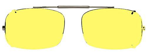 Visionaries Polarized Clip on Sunglasses - DRX Rec - Gun Frame - 54 x 35 Eye (Glass Visionary)