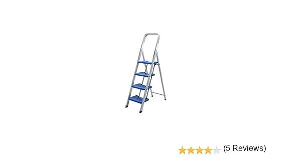Escalera aluminio peldaño ancho (5 peldaños): Amazon.es: Bricolaje y herramientas