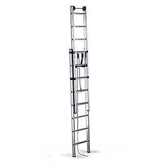 Disset Odiseo PDL0182 Escalera Profesional Aries, 2 Tramos, 2x14 Peldaños, 150 Kg Carga, 8200 mm Altura, 480 mm Anchura: Amazon.es: Industria, empresas y ciencia