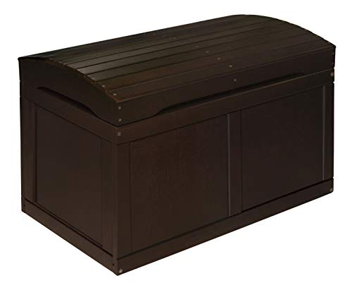 (Hardwood Safety Hinge Barrel Top Toy Storage Chest)