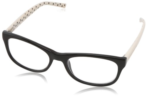 Kate Spade Women's Lettie Rectangular Reading Glasses, Black, White Dot, 51 mm ()