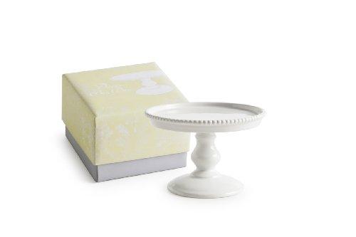 Rosanna 89170 Décor Bon Bon Hue Beaded Pedestal, Small, White