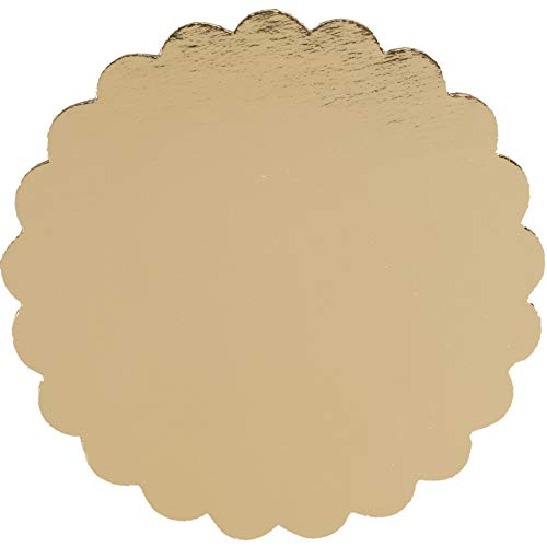 6 inch Gold Laminated Cake Circle - Round Board Corrugated Paper Cardboard Cake Base (Made in USA - Pack of 24)