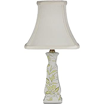 Small Porcelain Candle Accent Table Lamp