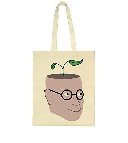 Plant Head Human Human Inside Bag With Growing Head Tote B7qSnPwnx