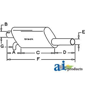 A&I - Muffler (4WD ARTICULATED - 1982). PART NO: - 4wd Muffler