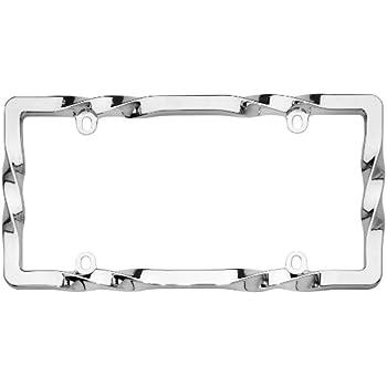 Cruiser License Plate Frame Billet Style Design Chrome Black 58350