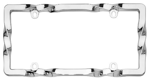 Cruiser Accessories 20730 Twist License Plate Frame, Chrome