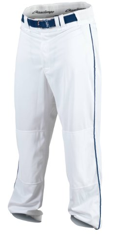 Rawlings Youth Baseball Pant (White/Navy, X-Large)