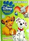 Disney Animal Friends Giant Coloring & Activity Book - Playful Pals - 101 Dalmations, Lion King, Etc.