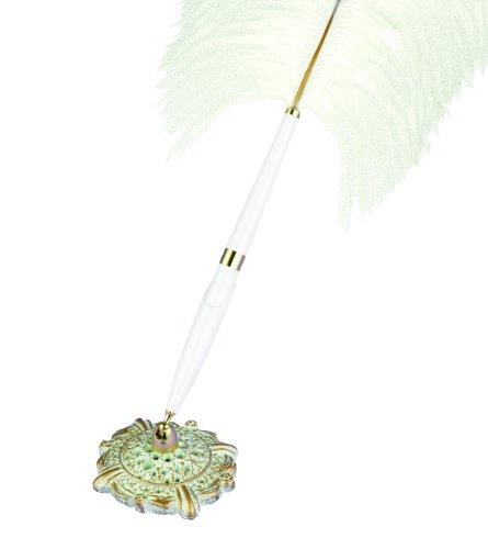 - Hortense B. Hewitt Wedding Accessories Antique Flair Plume Pen Set, White