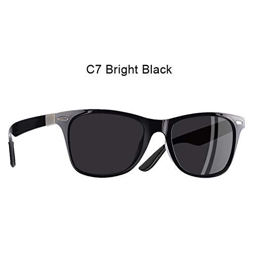 Polarized Sunglasses Men Women Driving Square Style Sun Glasses Male Goggle,C7 Bright ()