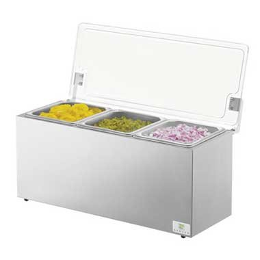 - Server Products 67080 Insulated 3 Pan Relish Server