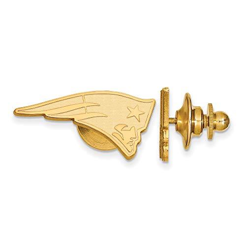Kira Riley Gold Plated New England Patriots Lapel Pin ()