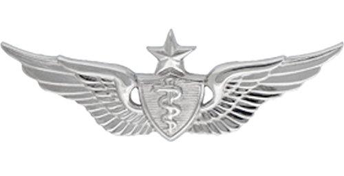 Flight Surgeon SENIOR Badge Metal Insignia - NON SUBDUED - Full Size
