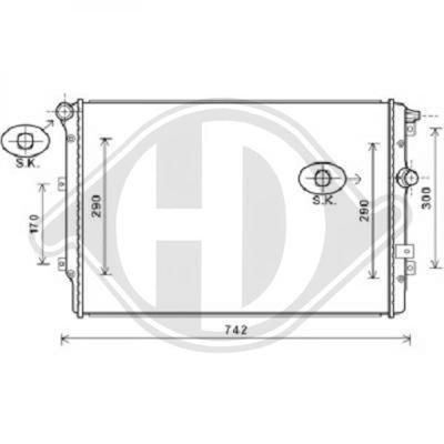 Diederichs DCM3468 Radiator, radiator: