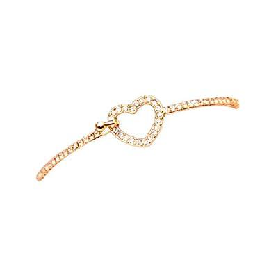 Cheap Susenstone®Fashion Style Gold Rhinestone Love Heart Bangle Cuff Bracelet Jewelry for cheap AdWCyEkP