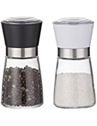 Investment 180ml*2 Glass Salt and Pepper Mill Grinder Set opportunity