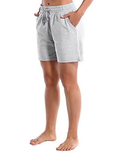 BUBBLELIME 5″/10″/19″ Women's Joggers Pants Yoga Lounge Bermuda Shorts Workout Running Elastic Waist Pockets Fitness Gym