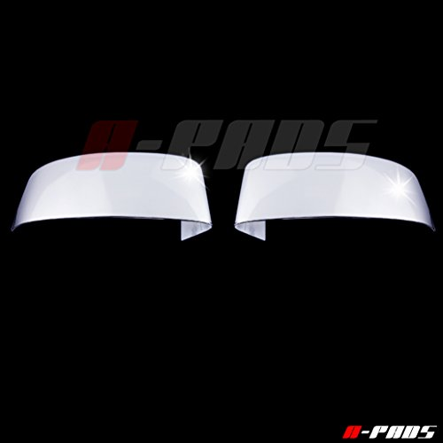 A-PADS 2 Chrome Mirror Covers for Ford EXPEDITION 2003-2006 & Lincoln NAVIGATOR 03-06 - Top Half Mirrors Pair
