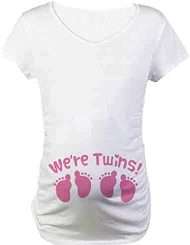 767fc37a0782 Women Fashion Cute Round Collar T-Shirt Printing Pregnant Casual Maternity Blouse  Top
