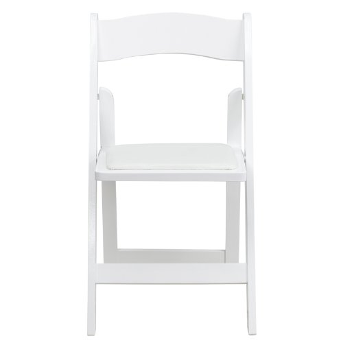 Flash Furniture 4 Pk. HERCULES Series White Wood Folding Chair with Vinyl Padded Seat by Flash Furniture (Image #4)