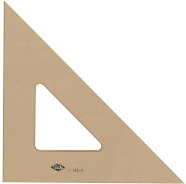Alvin T145-12 45 Degree/90 Degree 12'' Professional Topaz Tint Triangle by Alvin