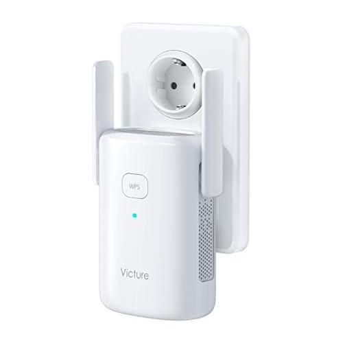 chollos oferta descuentos barato Victure Repetidor WiFi 1200Mbps 2 4 GHz 5Ghz Amplificador WiFi Extensor con Puerto Ethernet Repetidor Inalámbrico con Botón WPS Fácil de configurar