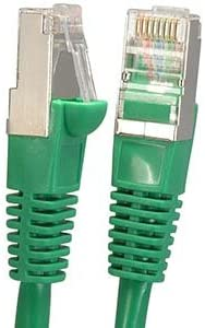 1Gigabit//Sec High Speed LAN Internet//Patch Cable Green 26AWG Network Cable with Gold Plated RJ45 Snagless//Molded//Booted Connector 4-Pack - 7 Feet GOWOS Cat5e Shielded Ethernet Cable 350MHz