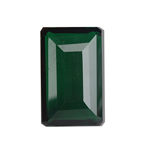 (gemhub 132.00 Ct. Emerald Cut Brazilian Finest Deep Green Amethyst Loose Gemstone BQ-241 )