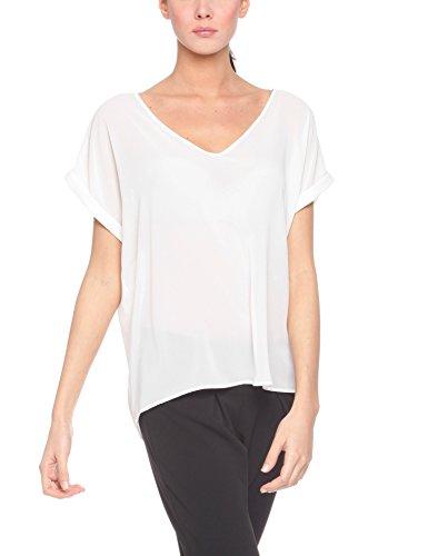 Solo Capri Maglia, Camisa para Mujer Blanco