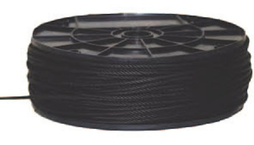 Black Aircraft Cable (Wire Rope) 1/16