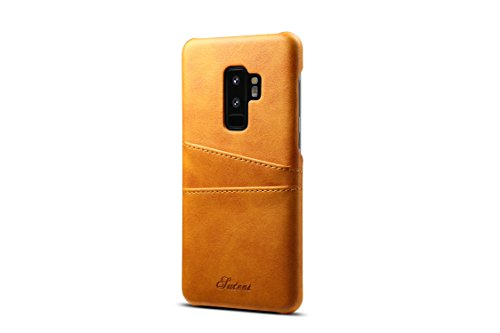 Galaxy S9 Plus Leather Case,TACOO Super Slim Fit Soft Pu Protective Two Credit Card Slots Ultra Thin Phone Back Cover for Samsung Galaxy S9P S9+ 2018
