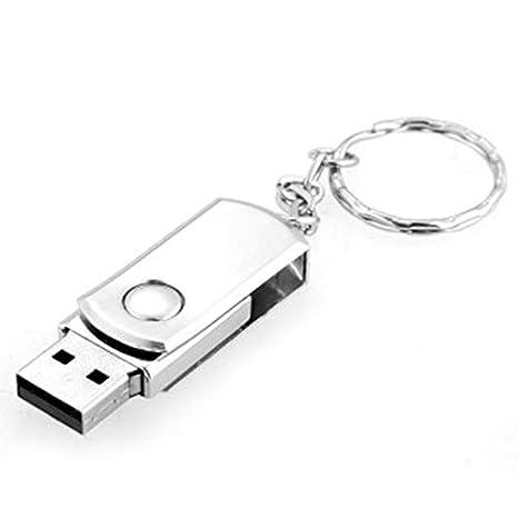 Mouchao Llavero Diseño Metal Rotación USB 2.0 Flash Drives ...