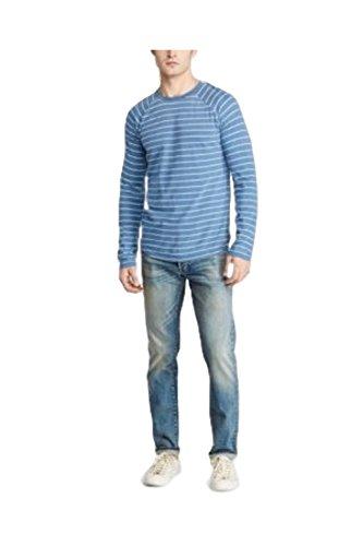 - RALPH LAUREN Denim & Supply Men's Indigo Striped Cotton T-Shirt (Large)