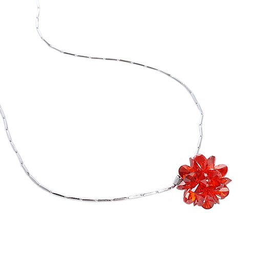 Swarovski Cut CrystalStarburst Christmas Pendant Necklace on a Fine Rhodium Chain. Stunning Charms Pendant Made of Tiny Swarovski Cut Crystals into a ...
