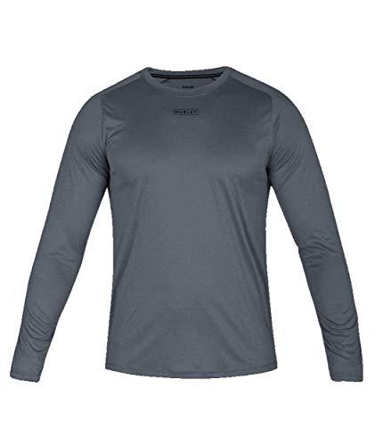 Hurley AV5552 Men's Quick/Dry Tee Long Sleeve Shirt, Cool Grey HTR - M