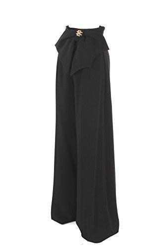 Pantalone Donna Elisabetta Franchi 40 Nero Pa13281e2 Primavera Estate 2018