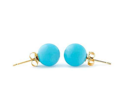 8mm Turquoise Stud Earrings...