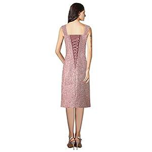 ThaliaDress Womens Lace Straps Mother of Bride Dress with Chiffon Shawl T107LF