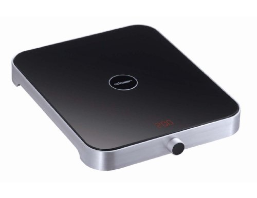 Cloer 6868NA 11-Pound/5-Kg Capacity Electronic Kitchen Scale, Stainless Steel/Black