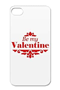 Love Love Red Heart February Women Cupid Valentine Red TPU For Iphone 4/4s Be_my_valentine Protective Case