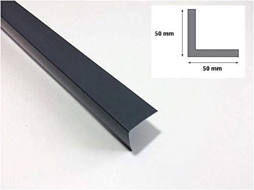 174 Hart-PVC Winkelprofile Kunststoffleiste Profil Eckschutzleiste Abdeckleiste 1m 50 x 50mm Kunstoffwinkel Anthrazit