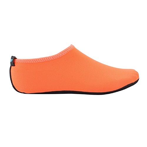 Wowfoot Pieds Nus Eau Peau Chaussures Chaussettes Femmes Hommes Flexible Natation Chaussure Plage Aqua Surf Piscine Yoga Exercice Orange