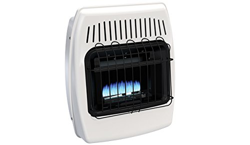 HeathRite Vent-Free Blue Flame Heater Natural Gas 6000 BTU, Manual Control - Gas Manual Vent