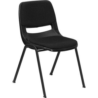 Hercules Series Ergonomic Shell Stack Guest Chair Seat Finish: Black with Padded Seat and Back by Flash Furniture