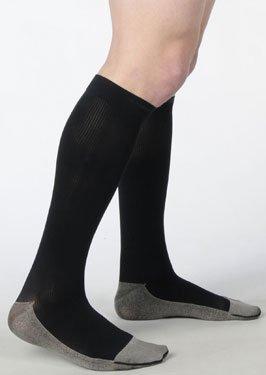 Juzo Soft Ribbed Knee High For Men 20-30mmHg Closed Toe, III, White