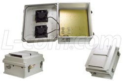 L-Com/Infinite Electronics - NB141207-10FSD - L-Com 14x12x7 Inch 120 VAC Weatherproof Enclosure w/Dual Fan Solid State Controller