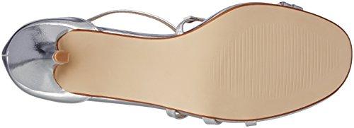 Size Metallic Heel Ajvani Silver Women High Shoes Sandals XxXa0wq